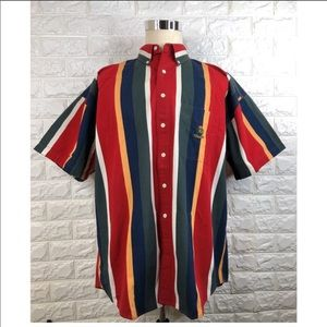 Chaps Ralph Lauren Striped Button Up Shirt Size XL